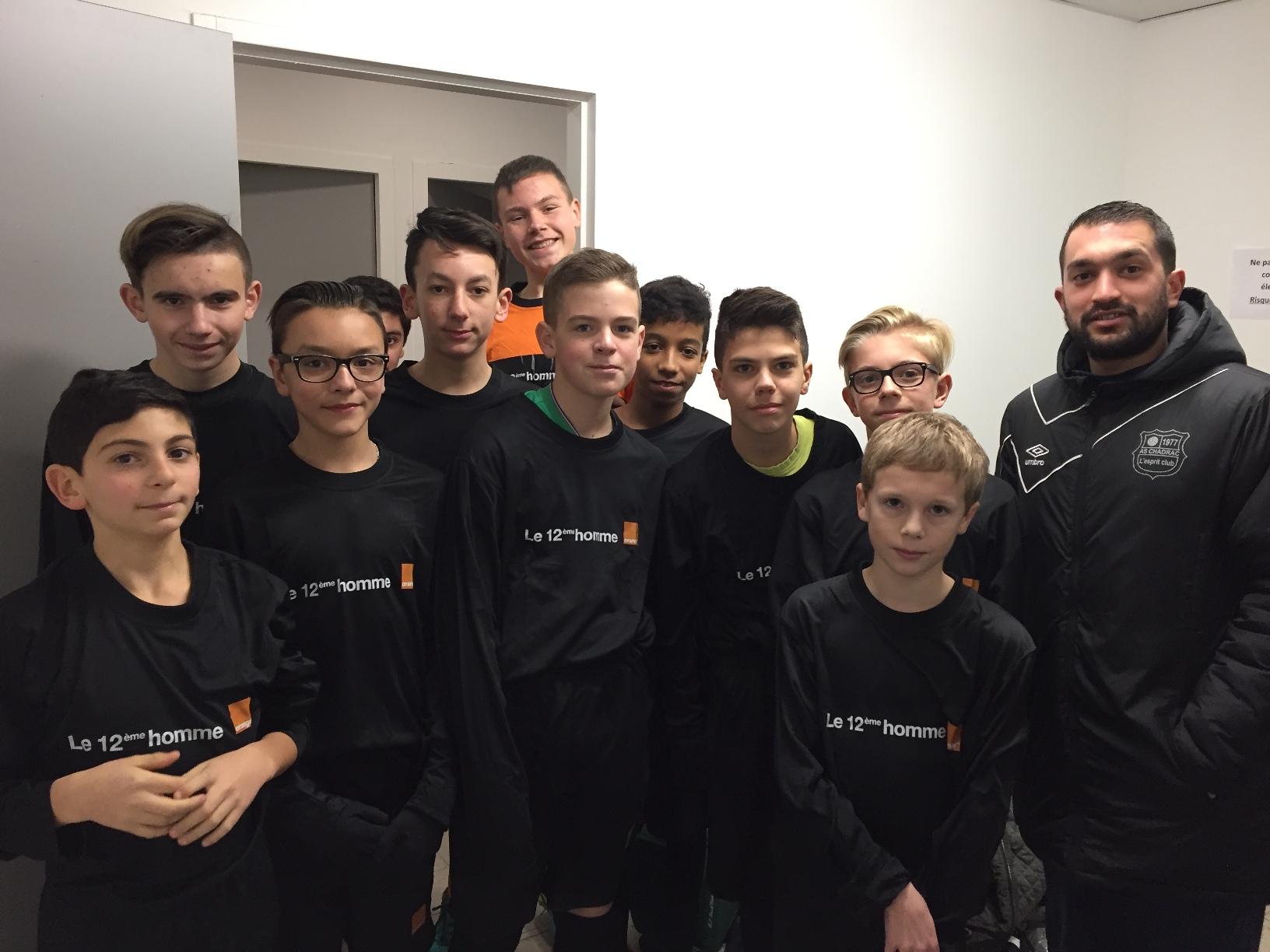 ASSE Lorient Challenge orange U15 as chadrac