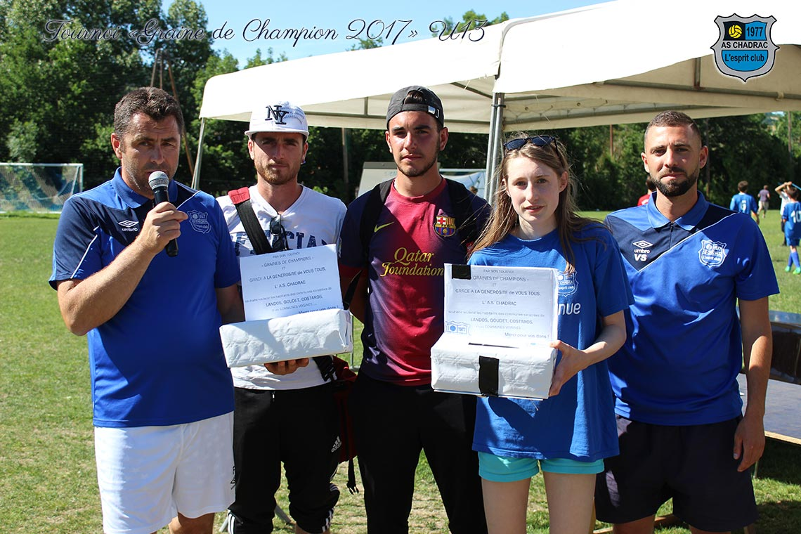 Tournoi Graine de Champion U13: solidarité