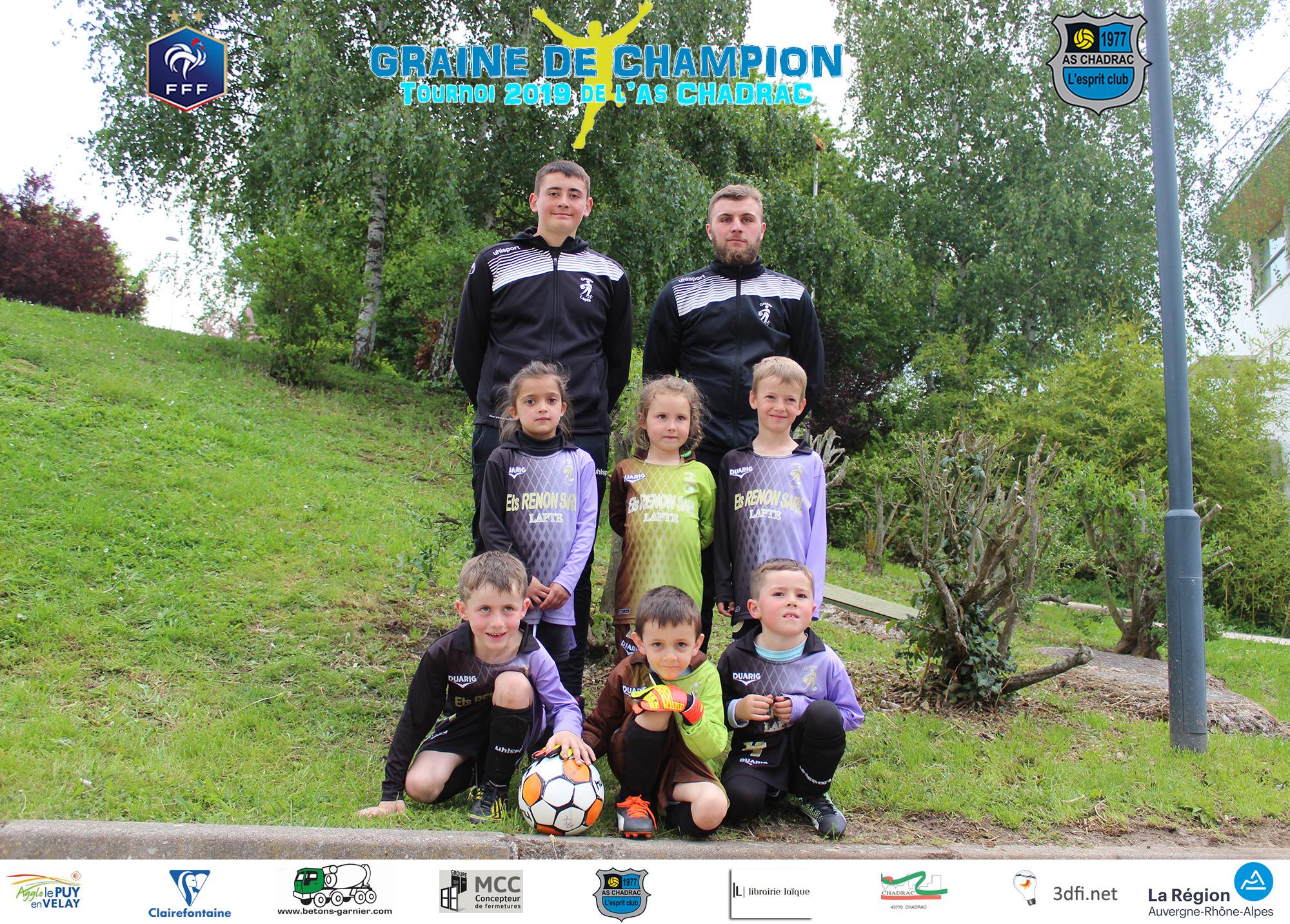 Tournoi graine de champion 2019 equipe u7 u9