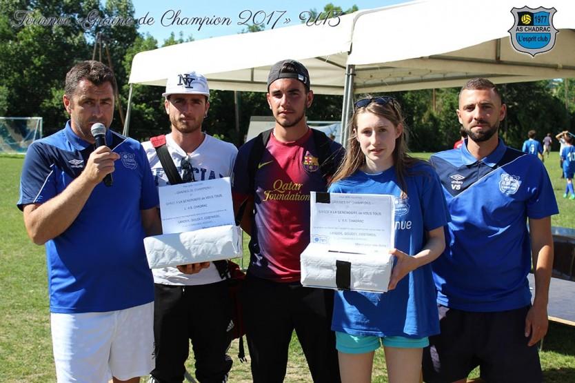 Belle opération de solidarité lors du tournoi U13 de l'AS Chadrac