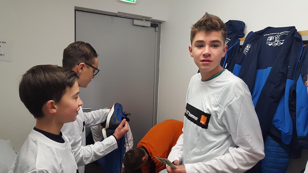 Challenge Orange des U15 de l'AS Chadrac lors de ASSE -Guingamp 2018