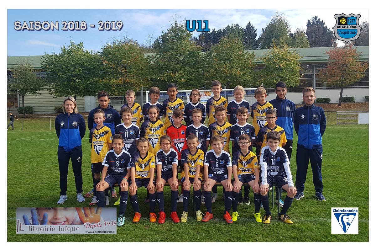 Equipes 2018 2019 u11