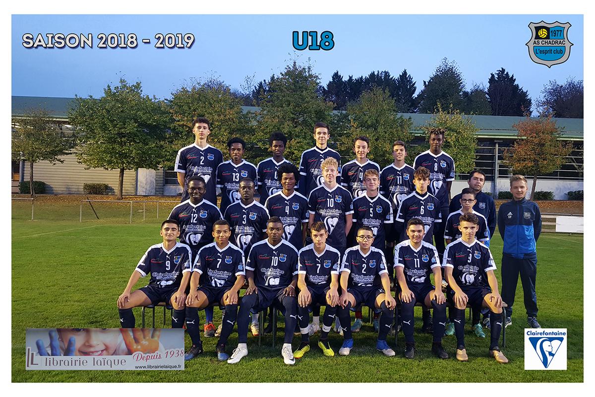 Equipes 2018 2019 u18